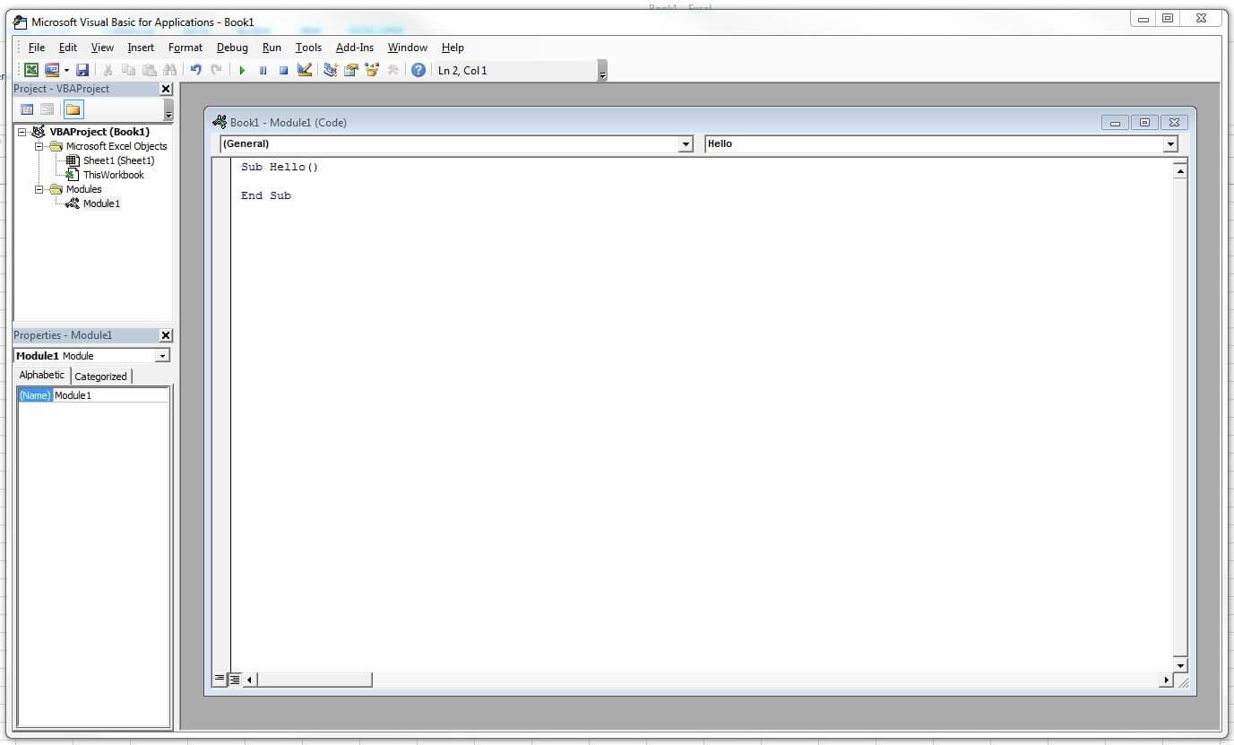 Excel macros: The useful scripts - 1&1