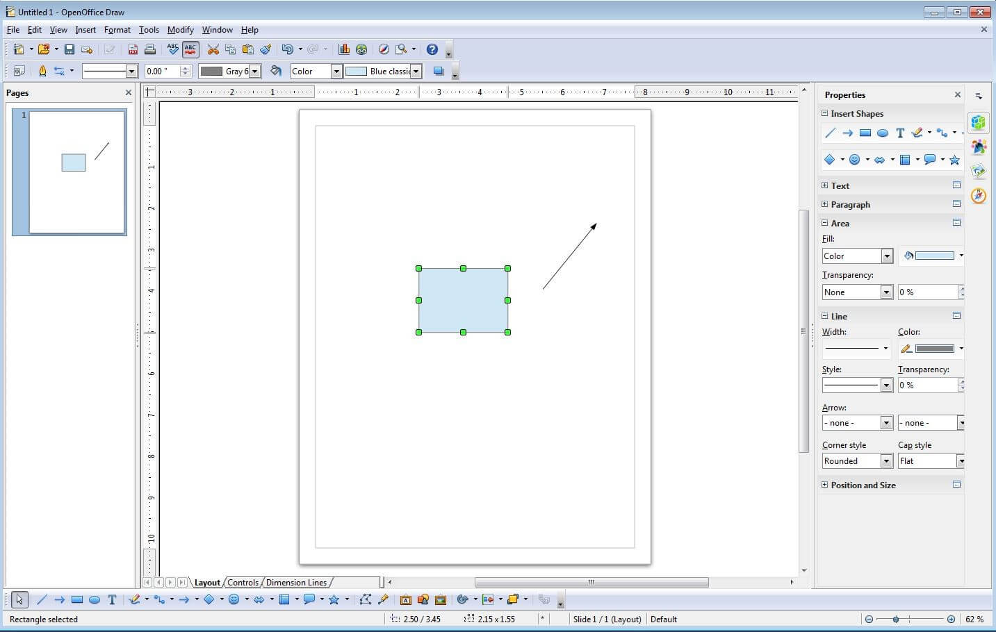 6 alternatives to microsoft visio 11 apache openoffice draw user interface ccuart Gallery