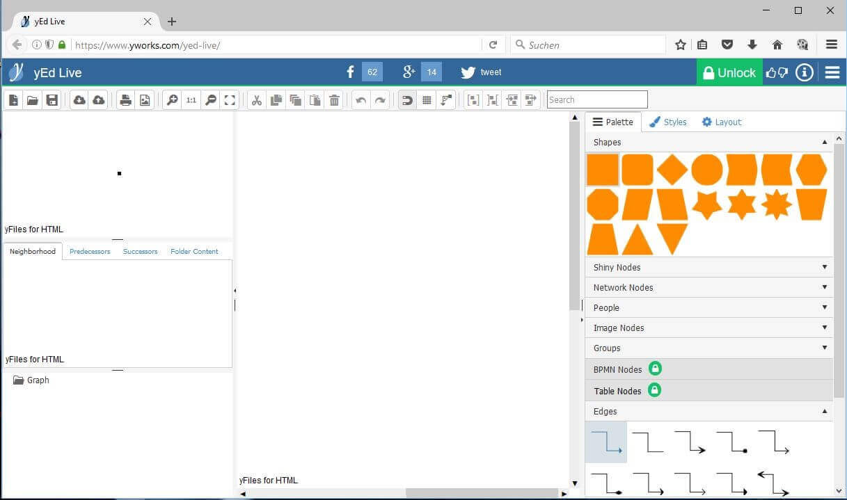 6 alternatives to microsoft visio 11 yed live online version of the yed editor ccuart Images
