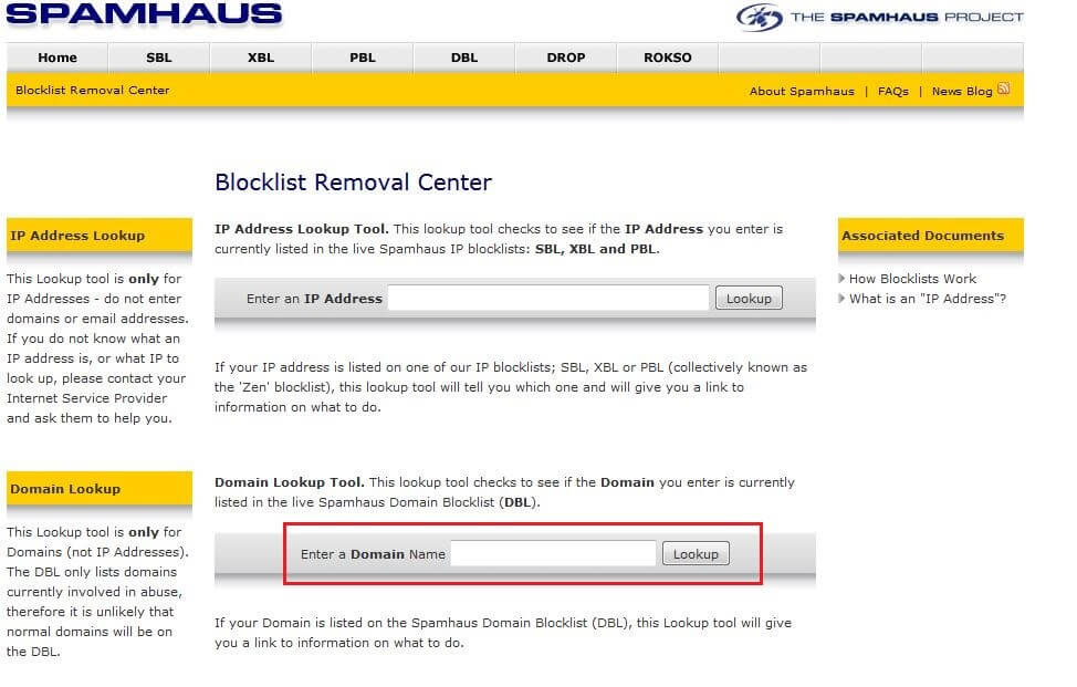 Blocklist Removal Center Result For Exampleorg
